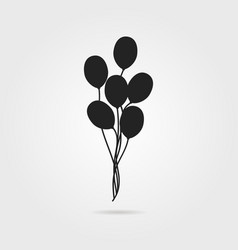 black air balloon icon with shadow vector image vector image