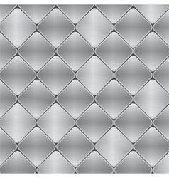 brushed metal mosaic tile background vector image vector image