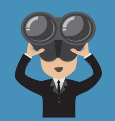 businessman with binoculars vector image