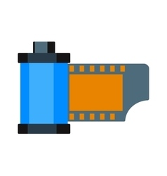 Camera vintage film roll cartridge vector