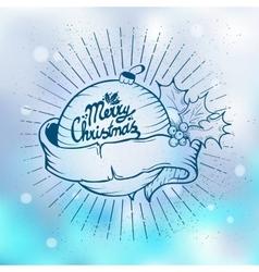 Christmas tree toys vector image vector image