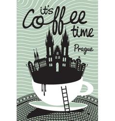 Coffee on prague vector