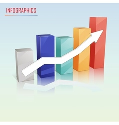 Colorful statistics template growth chart vector image