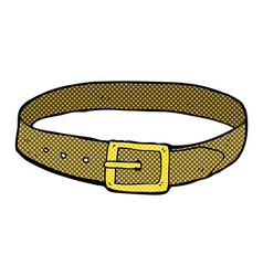 Comic cartoon leather belt vector