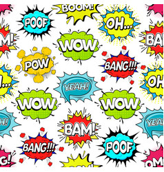 comic speach bubble effect background pattern on a vector image vector image