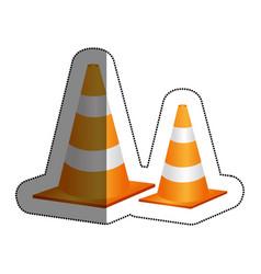cones caution sign icon vector image vector image