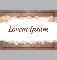 Cover with wooden background and paint and a vector