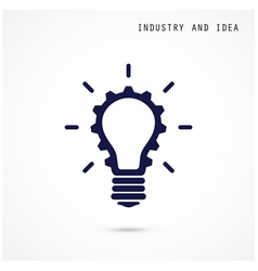 Creative light bulb and gear abstract desig vector