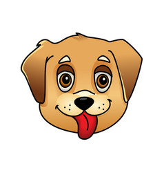 Cute cartoon dog face vector