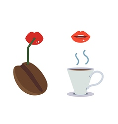 Drink coffee vector