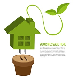 Ecology house background vector image vector image