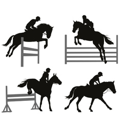 Equestrian sports set vector image
