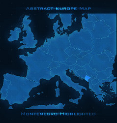 Europe abstract map montenegro vector