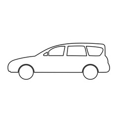 family car icon vector image vector image