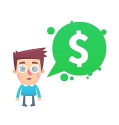 Financial paranoia vector image vector image