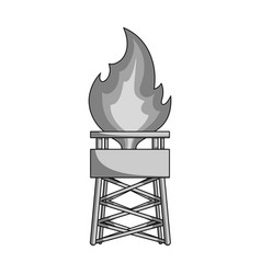 Gas toweroil single icon in monochrome style vector