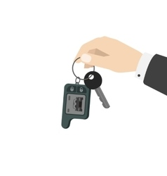 Hand holding car keys vector image vector image
