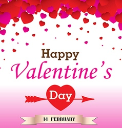 Happy Valantines Day on white background vector image vector image
