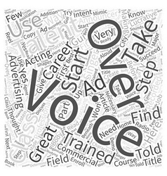 How to start your voice over career part word vector
