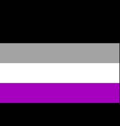 International asexual flag people movement flat vector