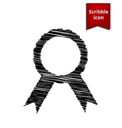 label icon with ribbons vector image vector image