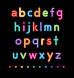Neon small letters vector