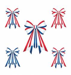 patriotic ribbons vector image