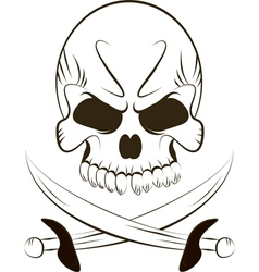 Pirate Skull and Swords vector image