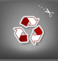 Recycle logo concept red icon with for vector