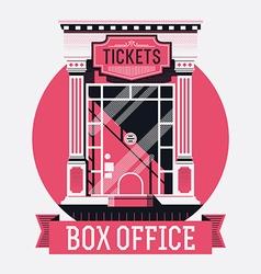 Retro Movie Box Office vector image