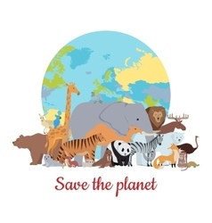Save the Planet Baner vector image
