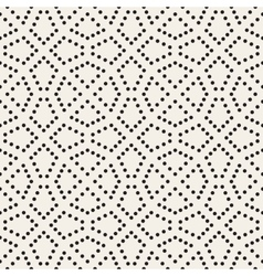 Seamless Black and White Dotted Lattice vector image