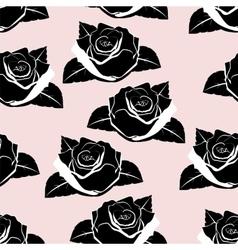 seamless wallpaper roses vector image vector image