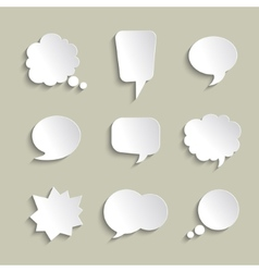 Set of volume speech bubbles with a shadows vector image