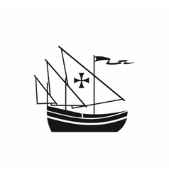 Ship of columbus icon simple style vector