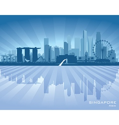 Singapore city skyline silhouette vector