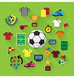 Soccer Icons set eps10 vector image