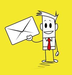 Square guy-Envelope vector image
