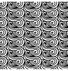 Stylised maori koru seamless pattern abstract vector