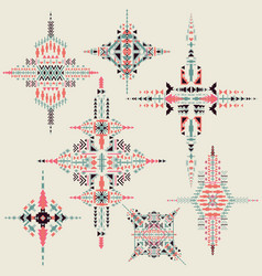 tribal ethnic ornament aztec decor vector image