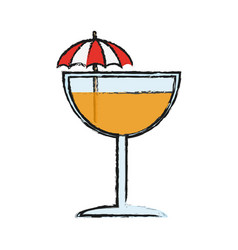tropical cocktail icon image vector image vector image