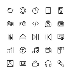 User interface colored line icons 38 vector