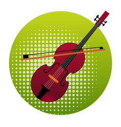 Violin icon music instruments concept vector