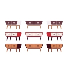 Set of retro sideboards vector
