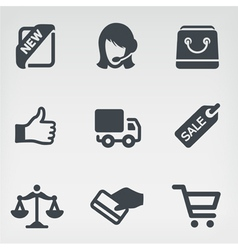 Shopping 1 icon set vector image