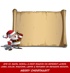 Happy santa scroll it is christmas time vector