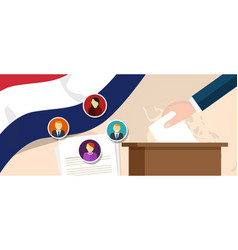Netherland democracy political process selecting vector