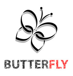 butterfly in flight vector image