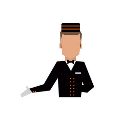Bellboy in uniform icon image vector