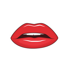 female lips isolated vector image